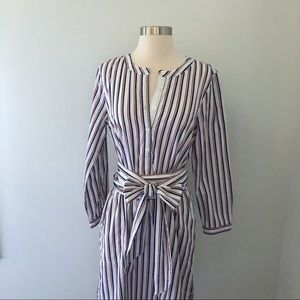 J. Crew Thomas Mason® Striped tie-waist shirtdress